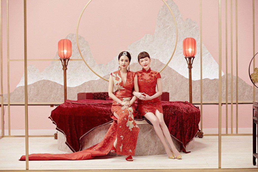 蔡依林(左)與小S在「紅衣女孩」MV中首度合作。圖/索尼音樂提供