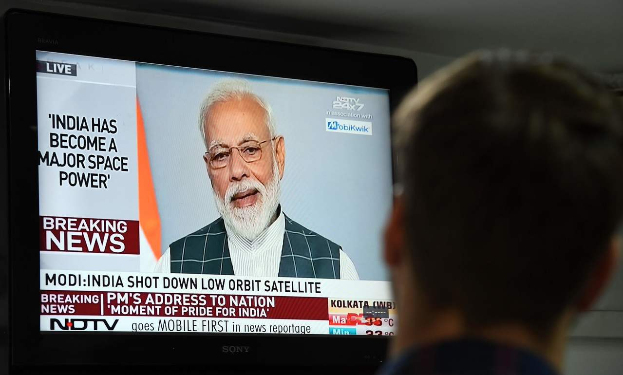 印度飛彈摧毀衛星,美宣稱危及太空站。 法新社