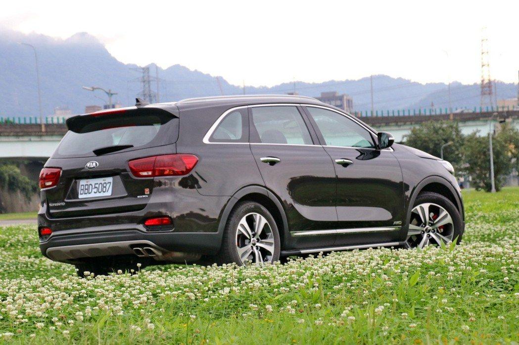 KIA Sorento GT-Line AWD是台灣市場少數七人座休旅。 記者陳...