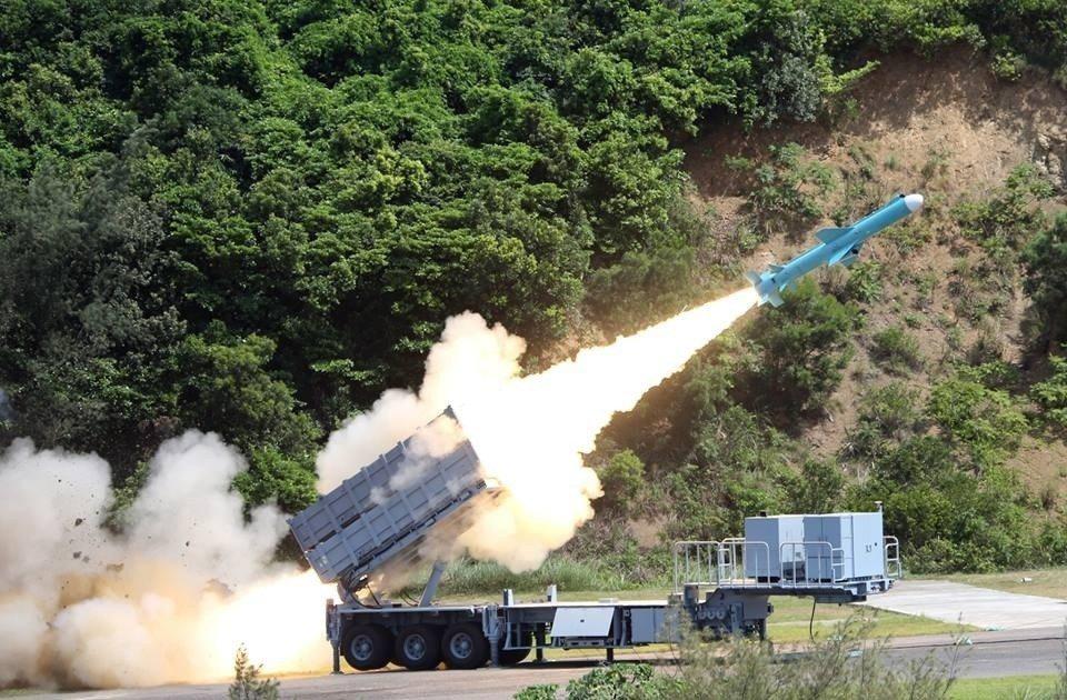 陸射雄風二型反艦飛彈。圖/軍聞社