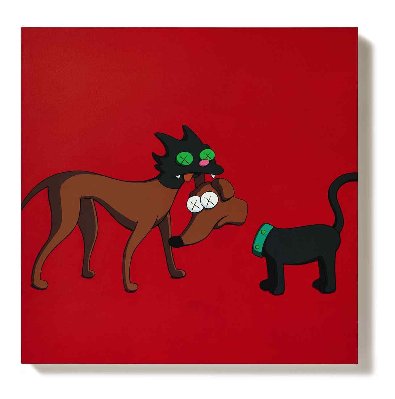 第四高價的拍品為KAWS的這幅KIMPSONS SERIES,成交價約2,900...