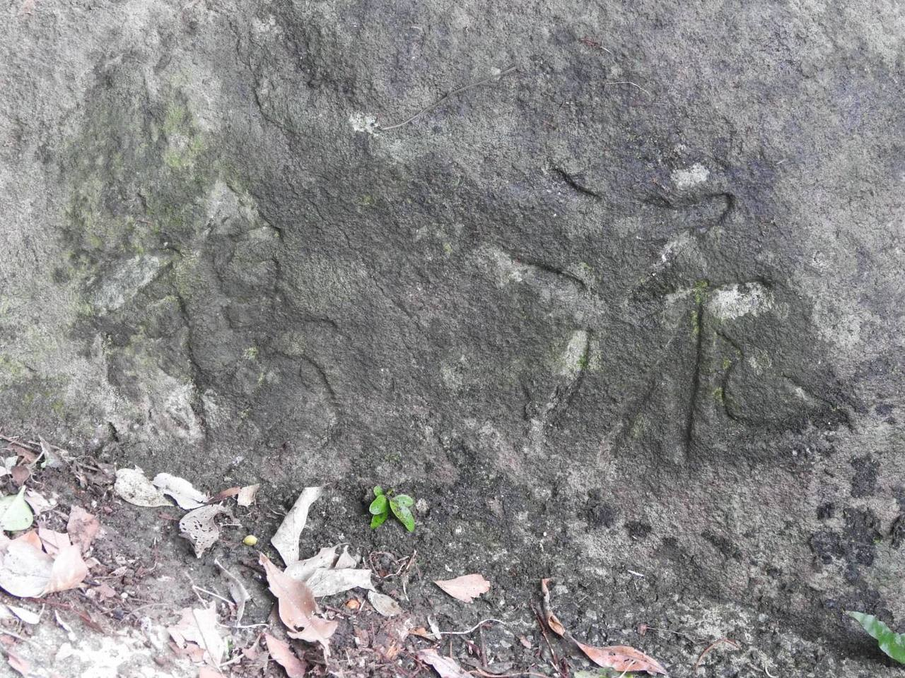 故宮前副院長莊嚴早年因發現這塊刻有「流觴」兩字的石頭,於1973年重現「曲水流觴...