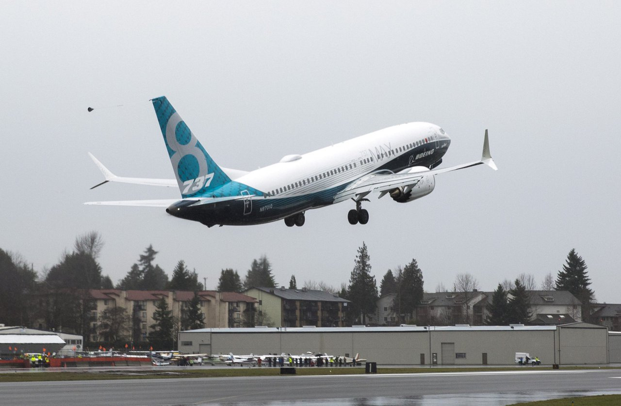 圖為波音737 MAX 8客機。路透