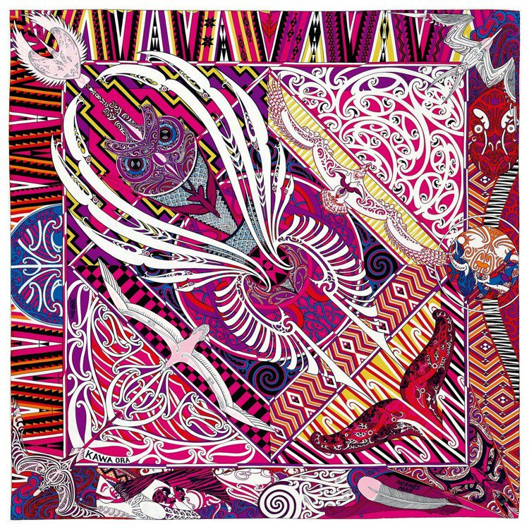 紐西蘭紋身藝術家Te Rangitu Netana操刀Kawa Ora圖紋印花斜...