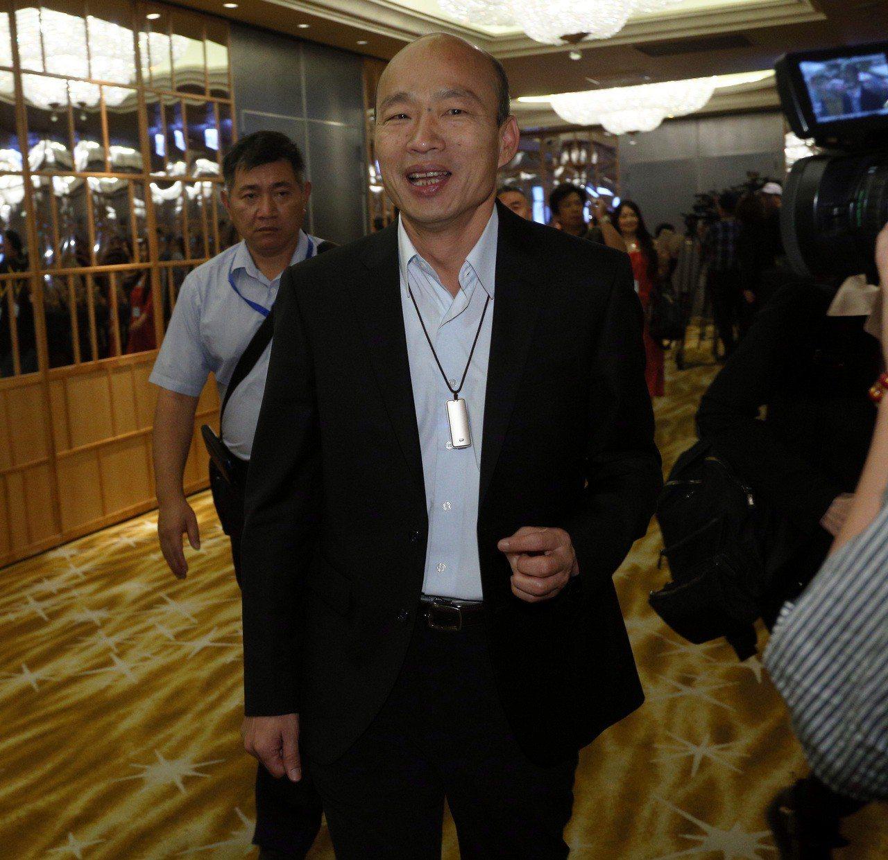 韓國瑜今天證實要和國民黨主席 吳敦義排時間。記者劉學聖/攝影