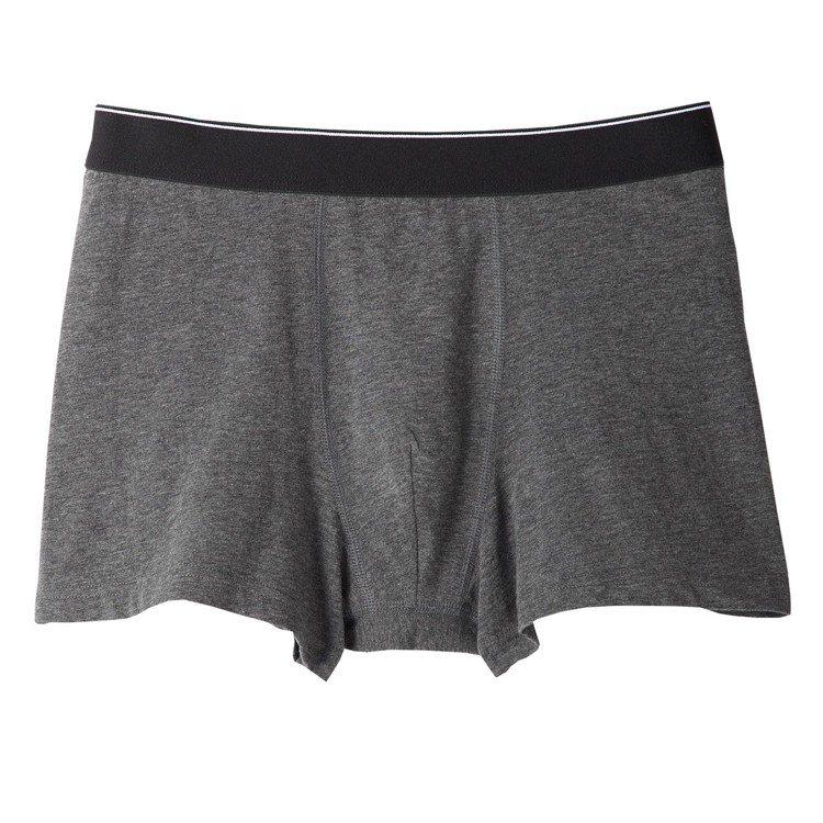 MUJI無印良品男有機棉混彈性拳擊內褲,售價210元。圖/無印良品提供
