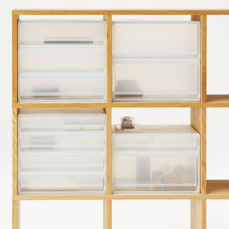 MUJI無印良品PP資料盒,售價350~560元。圖/無印良品提供