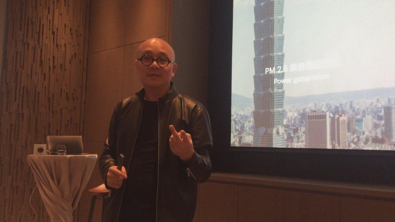 Gogoro執行長陸學森與媒體訪談。記者張語羚/攝影