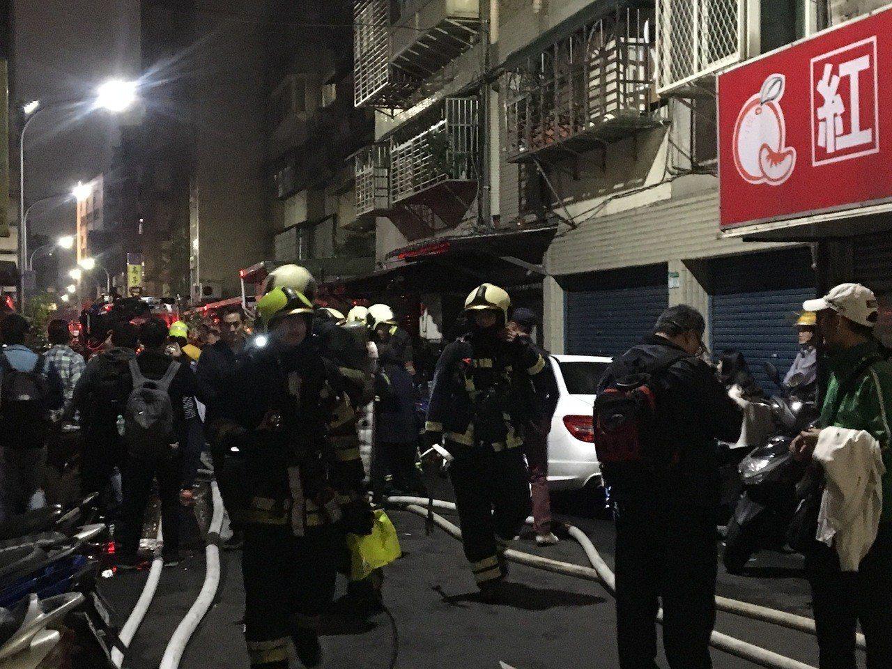 台北市中山區民權東路135巷某棟7層公寓,今天晚上近8時傳出火警。記者/蔡翼謙攝...