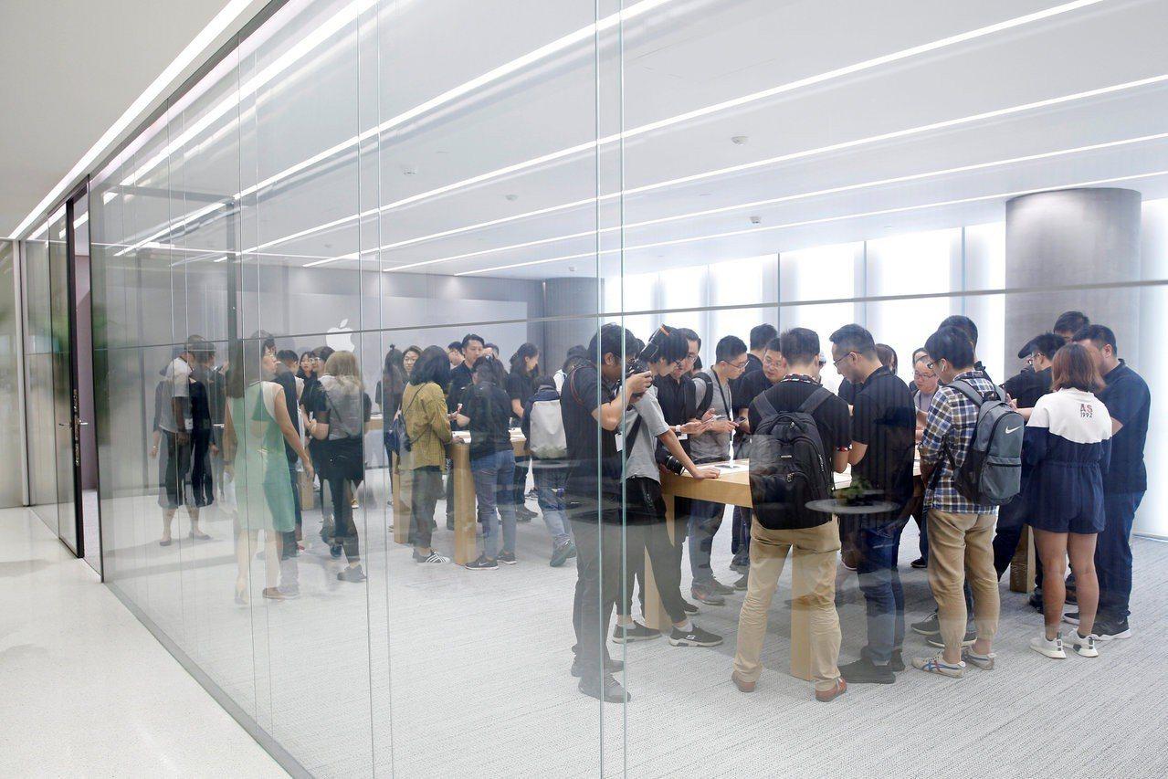 圖為蘋果位在上海的公司。路透社
