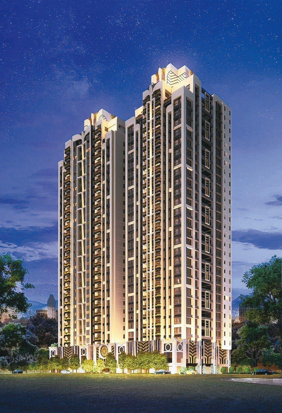 「永雄卓閱」新板計畫29層擎天雙塔建築,盡攬奢華視野。 業者/提供