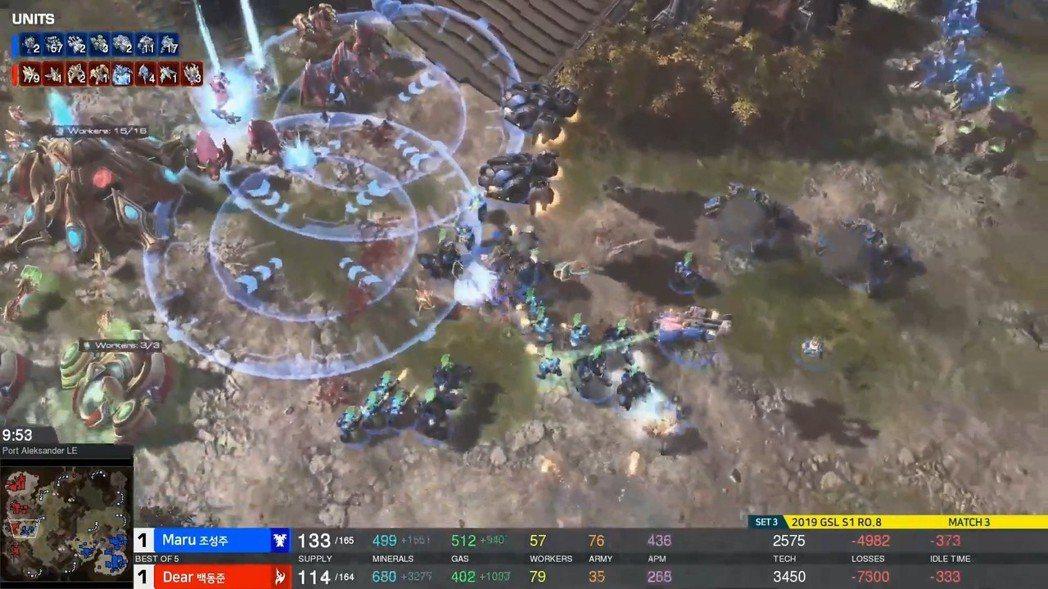 Maru劣勢後果斷地反攻,為自己奪得勝利 圖/AfreecaTV 實況畫面