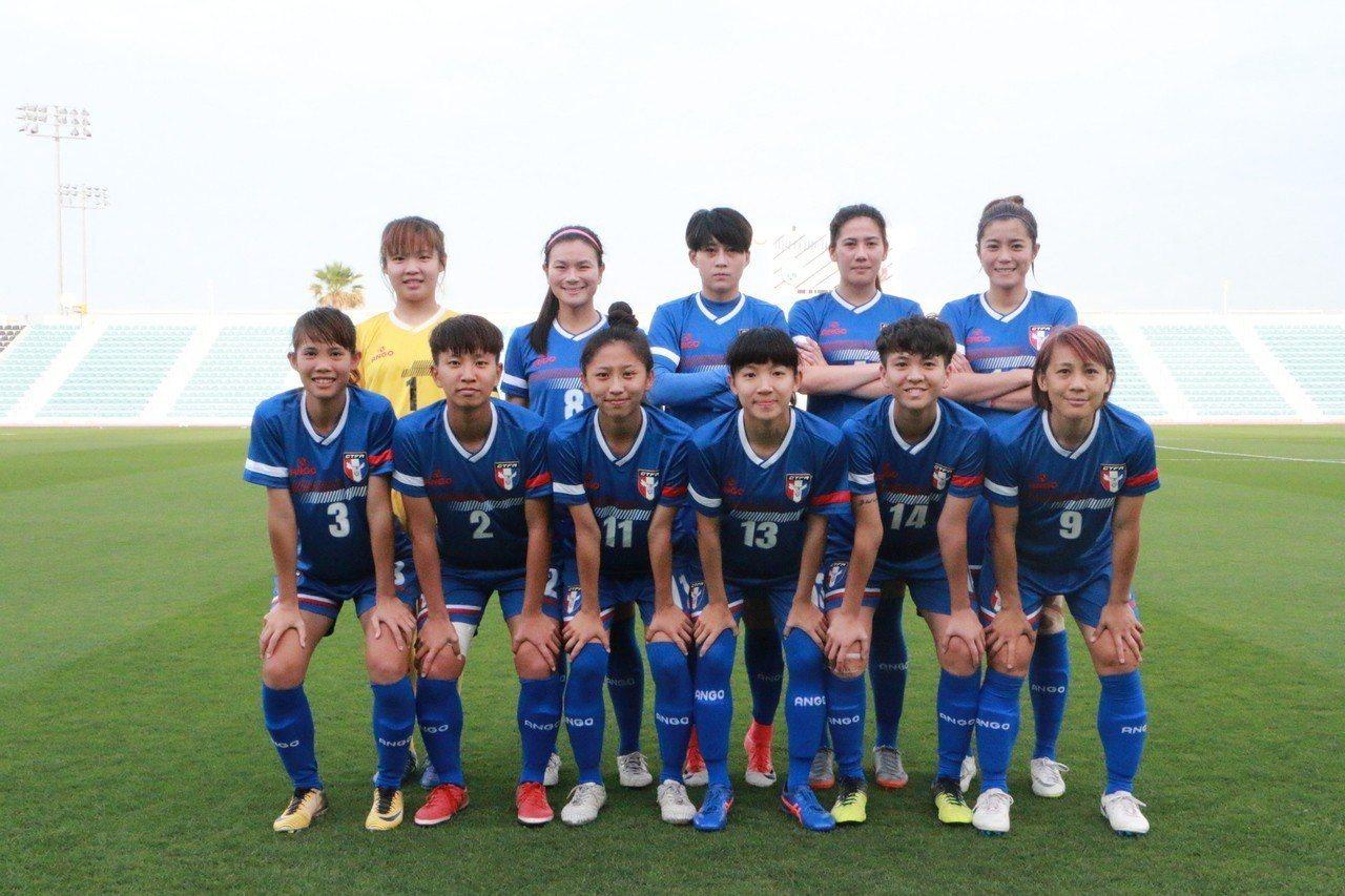 中華女足先發11人。圖/中華足球協會提供