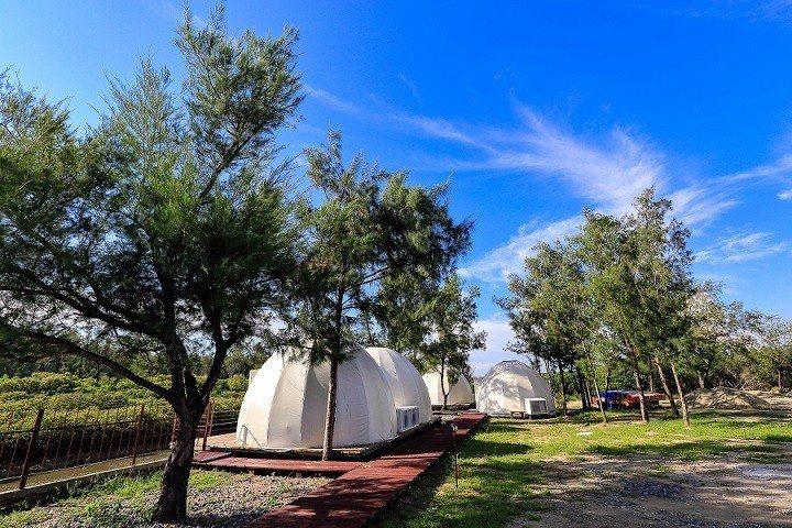 台南雙春星空帳棚,適合一家大小。圖/觀光旅遊局提供