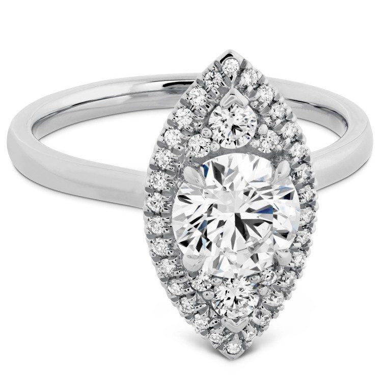 JULIETTE戒指,鉑金鑲嵌主鑽約2.03克拉,168萬2,000元。圖/HE...