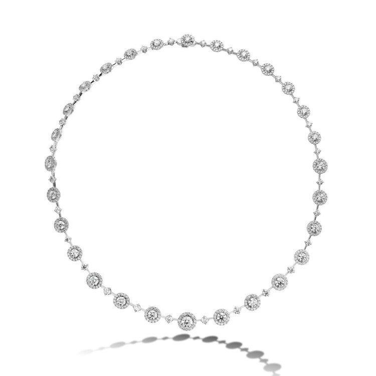 REPERTOIRE PREMIUM項鍊,白K金鑲嵌鑽石總重約9.98克拉,13...