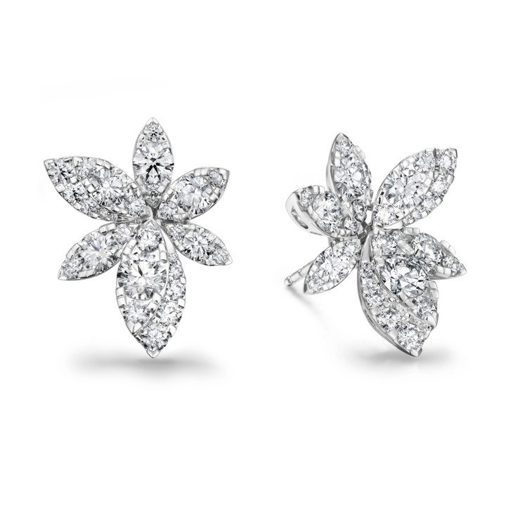 AERIAL BREEZE耳環,白K金鑲嵌鑽石總重約2.71克拉,48萬8,00...