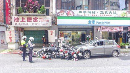 開車撿東西「很危險」 中山警方:差幾秒就見閻王