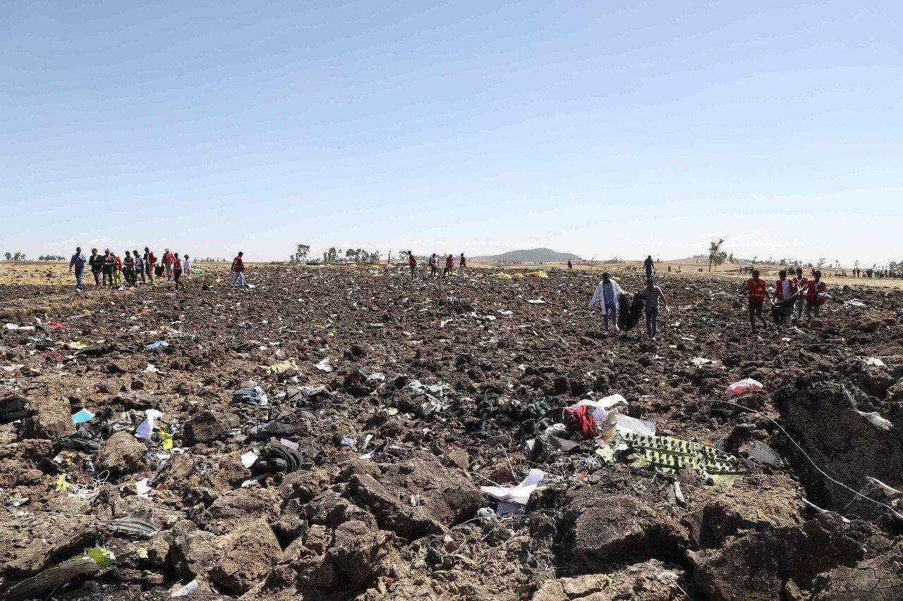 衣索比亞航空的波音MAX 8客機3月10日發生空難,157人罹難。法新社