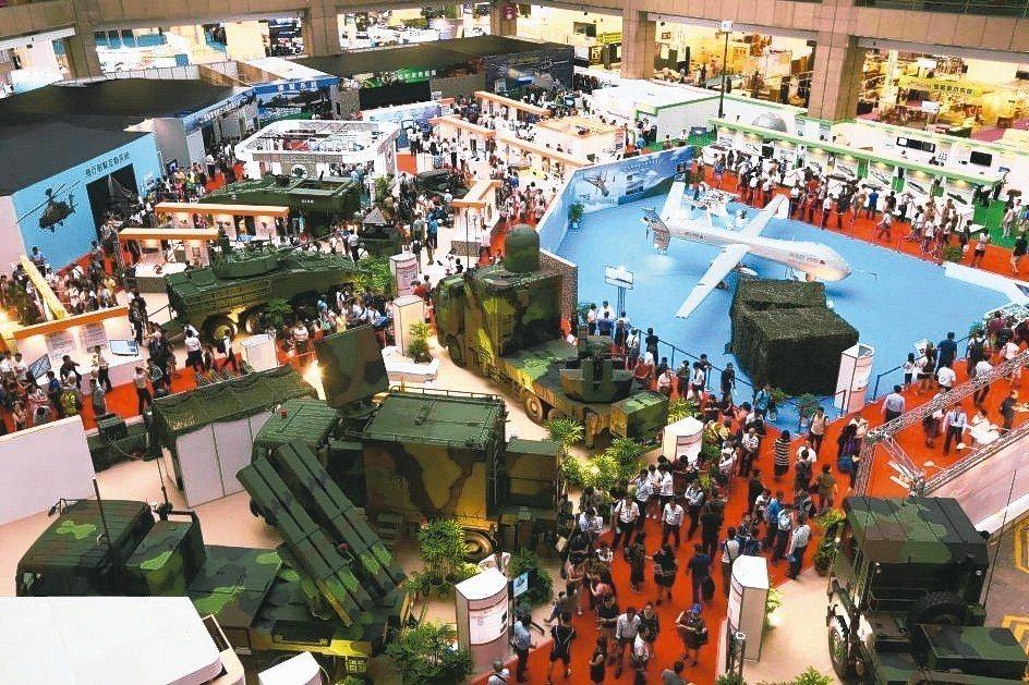2017年台北航太展展場俯瞰。 貿協/提供