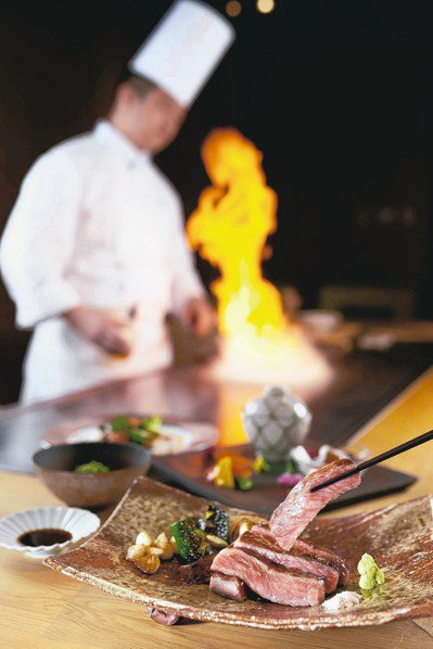 台北美福大飯店端出佐賀牛料理。 圖/台北美福提供