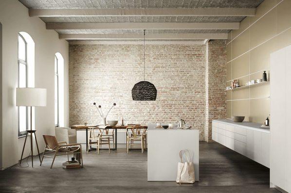 高端廚具讓居家空間解放,bulthaup的懸浮收納看來更有質感。圖/楠弘廚衛提供...