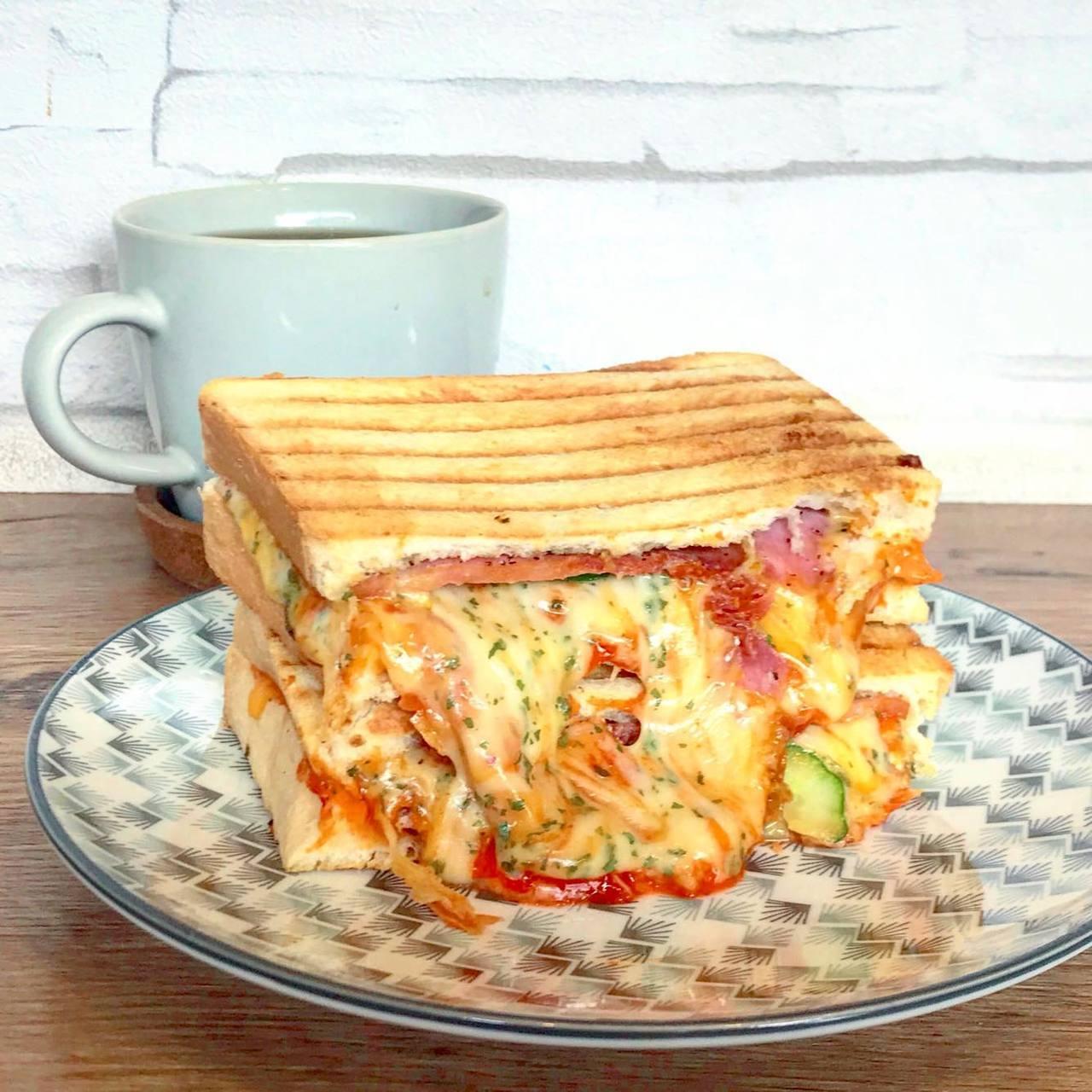 「日安 Ciao早午餐」帕尼尼有多種口味。圖/「日安 Ciao早午餐」提供