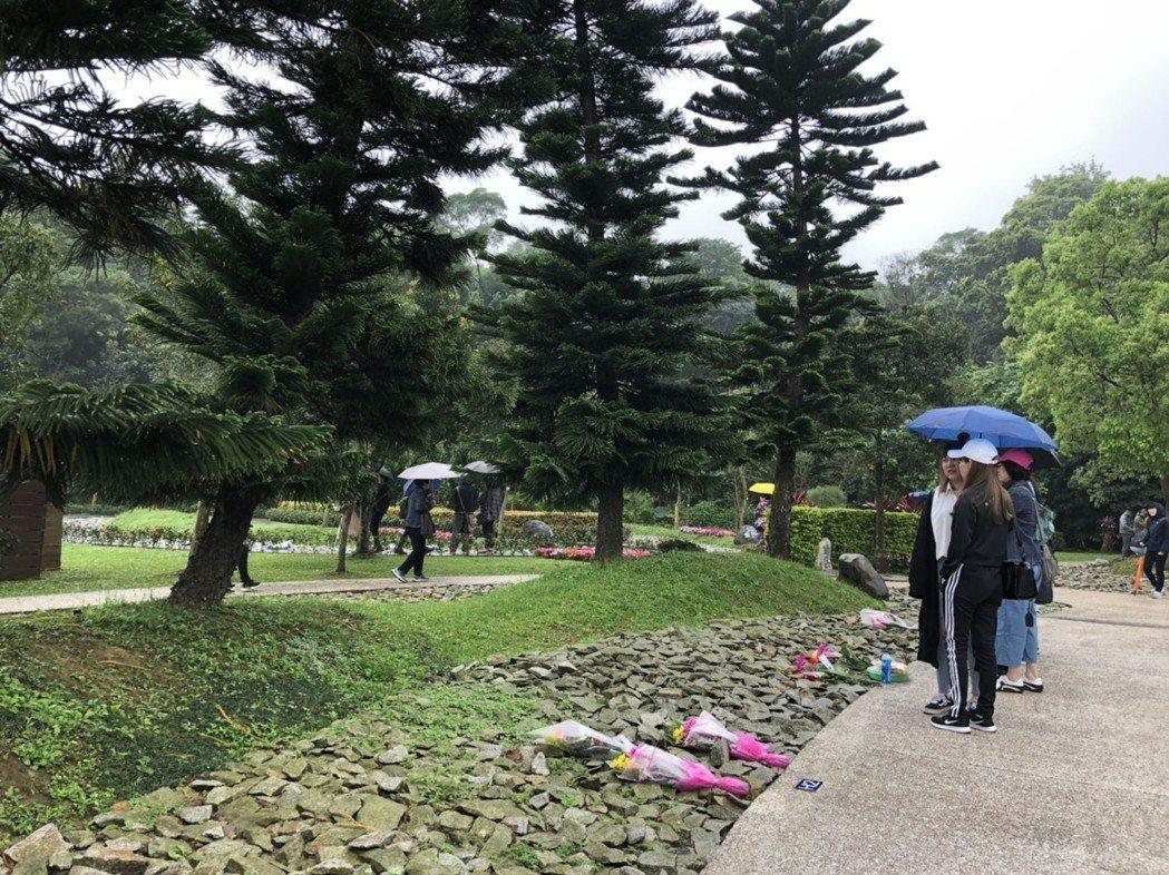 現在很多人追求環保簡單的花葬、樹葬。記者邱瓊玉/攝影