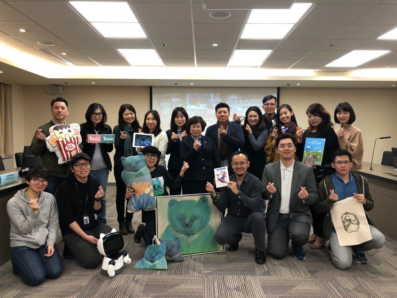 本年貿協臺灣館為授權展區最大的海外組團單位,類別包含原創圖像、藝術圖像授權、VR...
