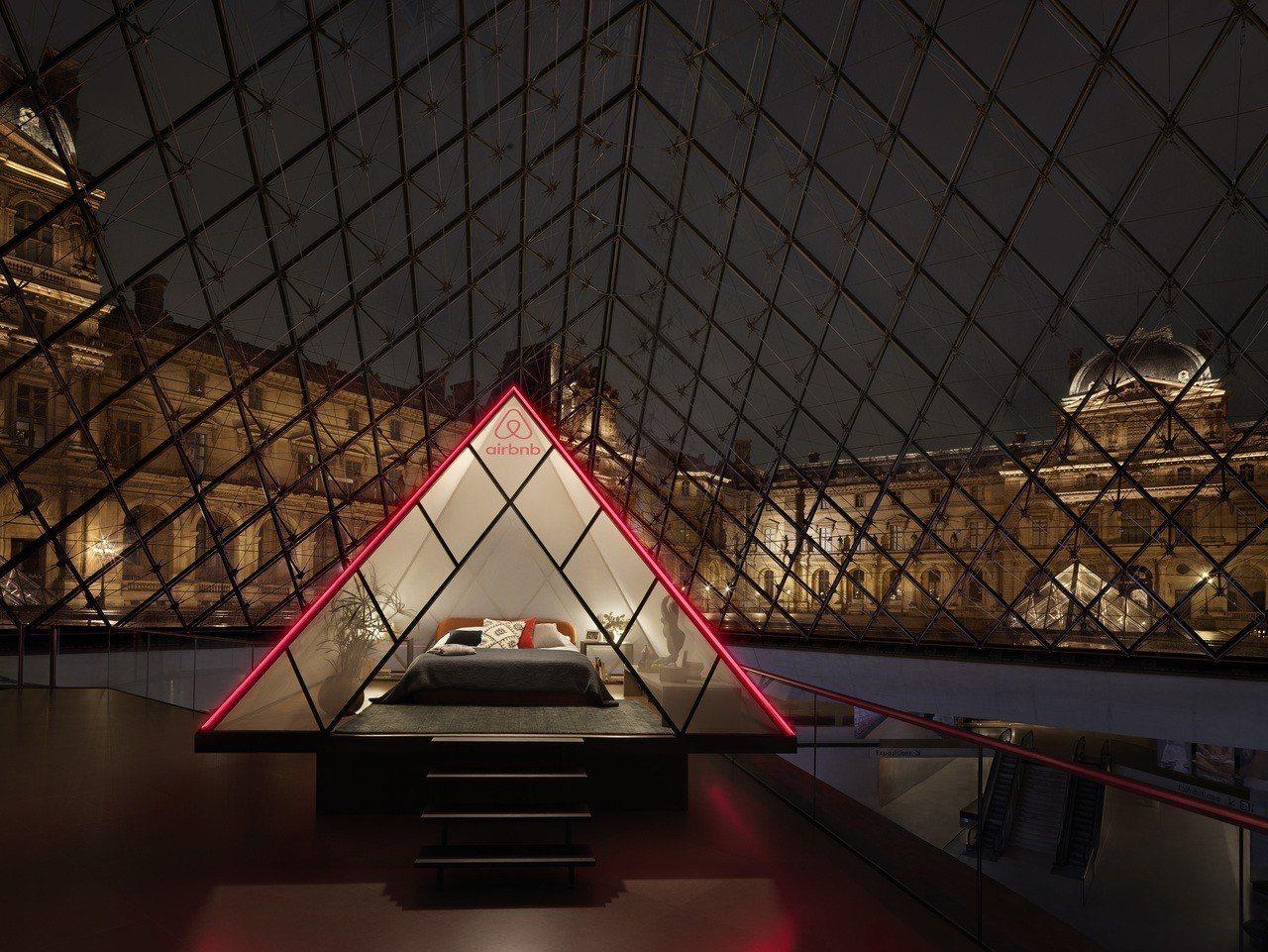 史上頭一遭「羅浮宮變你家!」。圖/Airbnb提供