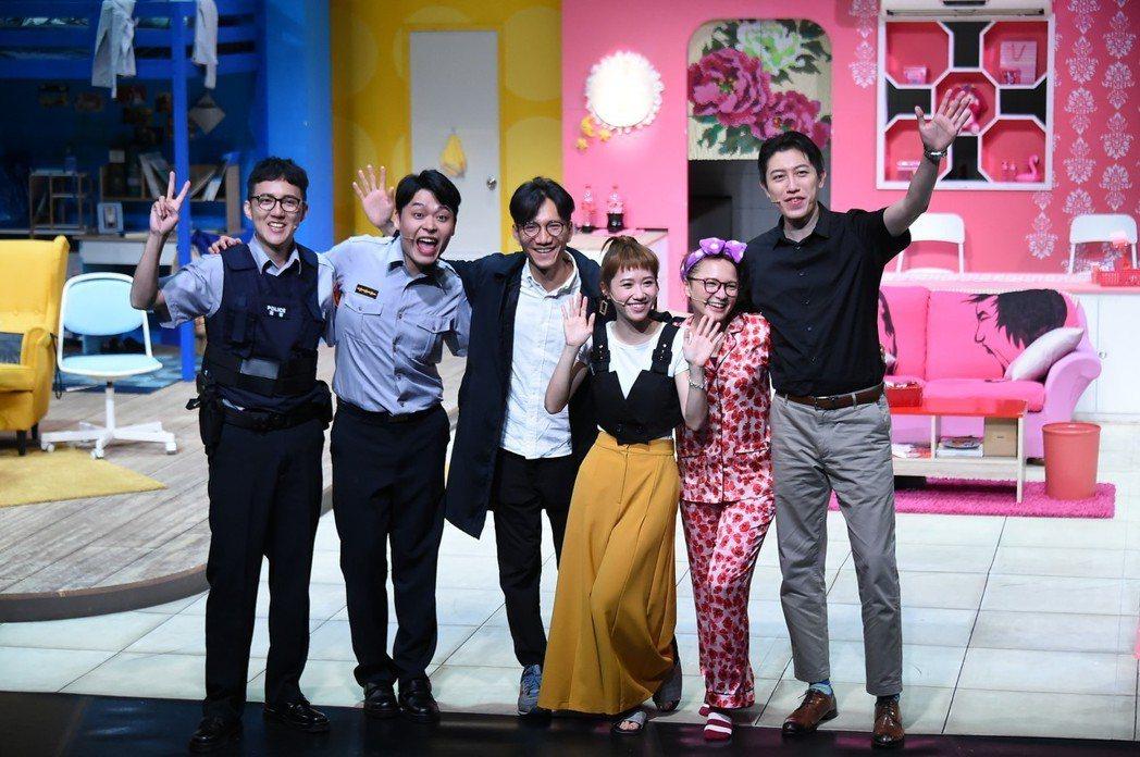 康康何瑞康(右起)、Kim程鈺婷、Lulu黃路梓茵、導演楊景翔、又仁、老爹林家麒...