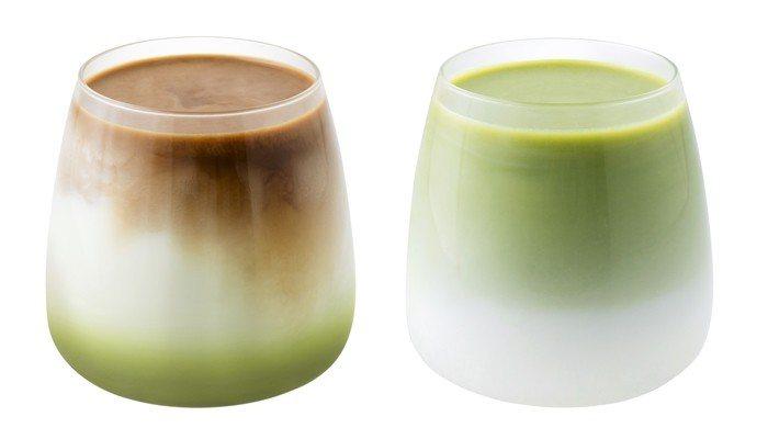 抹茶拿鐵珈琲(左)、抹茶歐蕾(右),售價75元。圖/Mister Donut提供