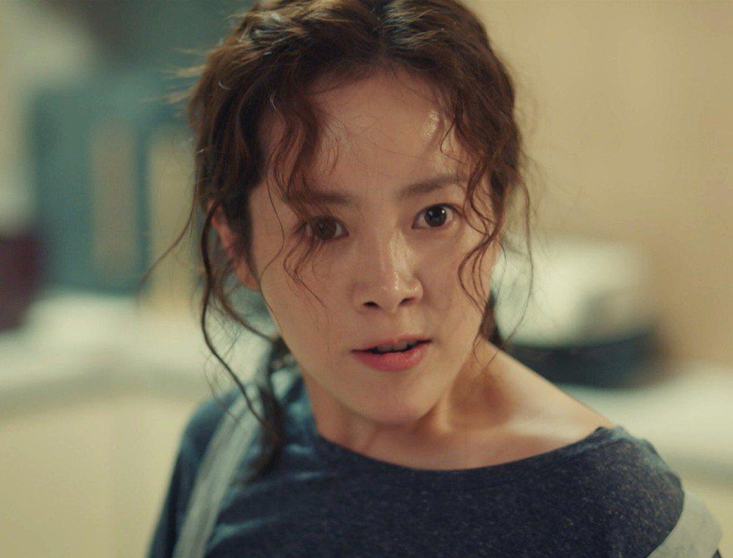 韓志旼在戲中婚後成了脾氣暴躁的黃臉婆。圖/東森戲劇台提供