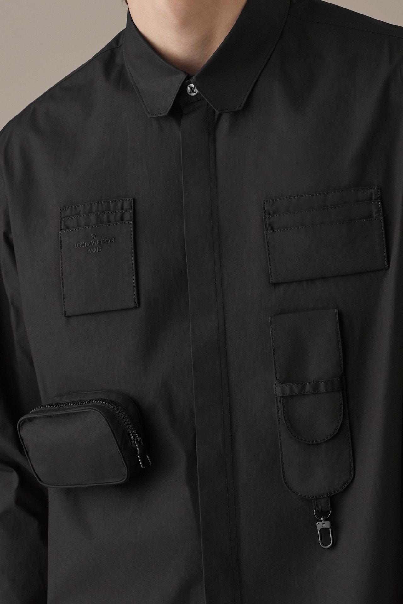 延續春夏季的口袋與服裝結合元素,讓Staples系列有著幽微的季節感。圖/LV提...