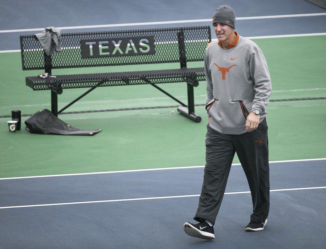 德州大學男子網球教練邁克・先特為涉案教練之一。(美聯社)