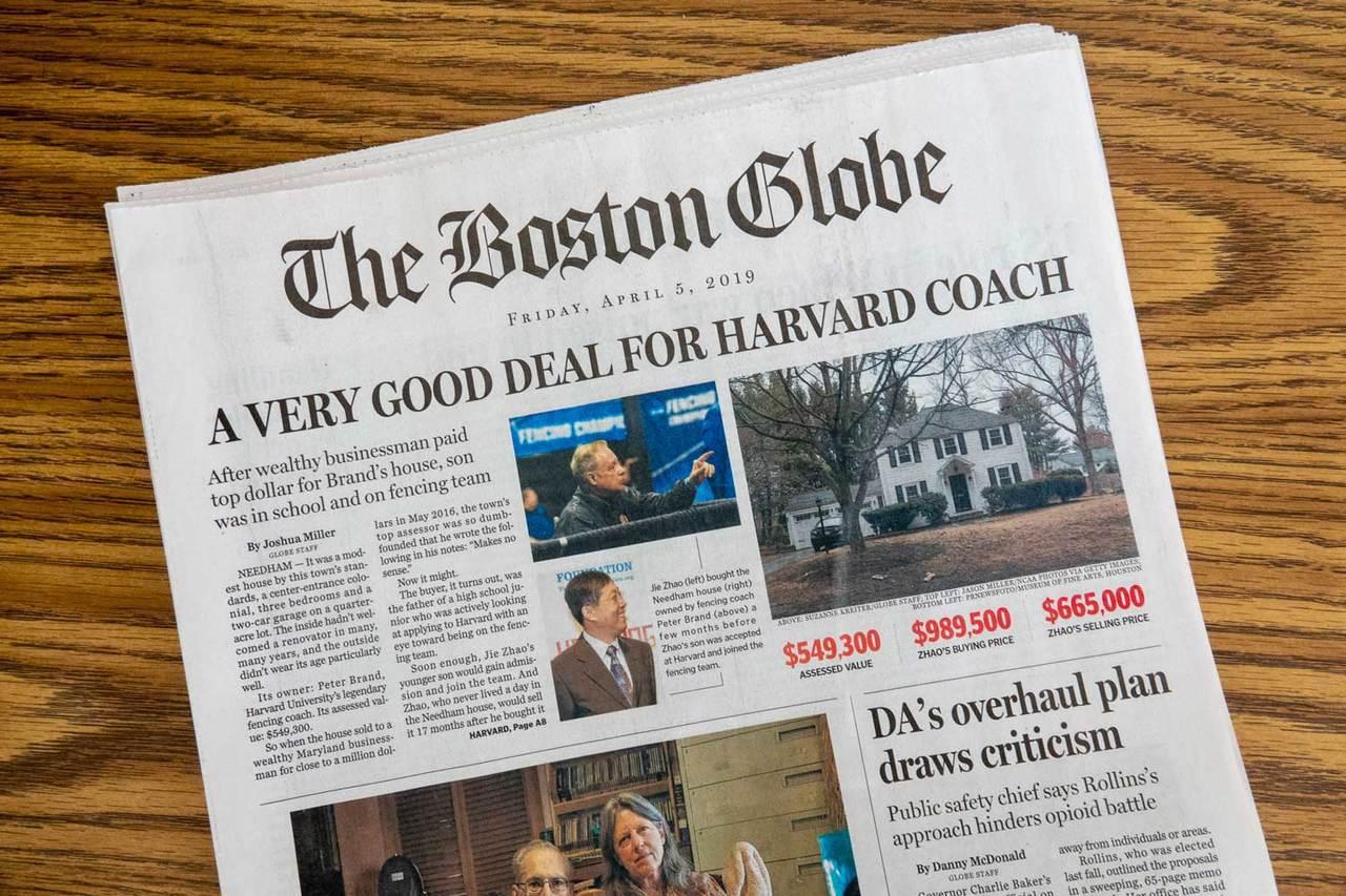 波士頓環球報調查哈佛擊劍隊教練的房屋買賣疑雲。翻攝Harvard Magazin...