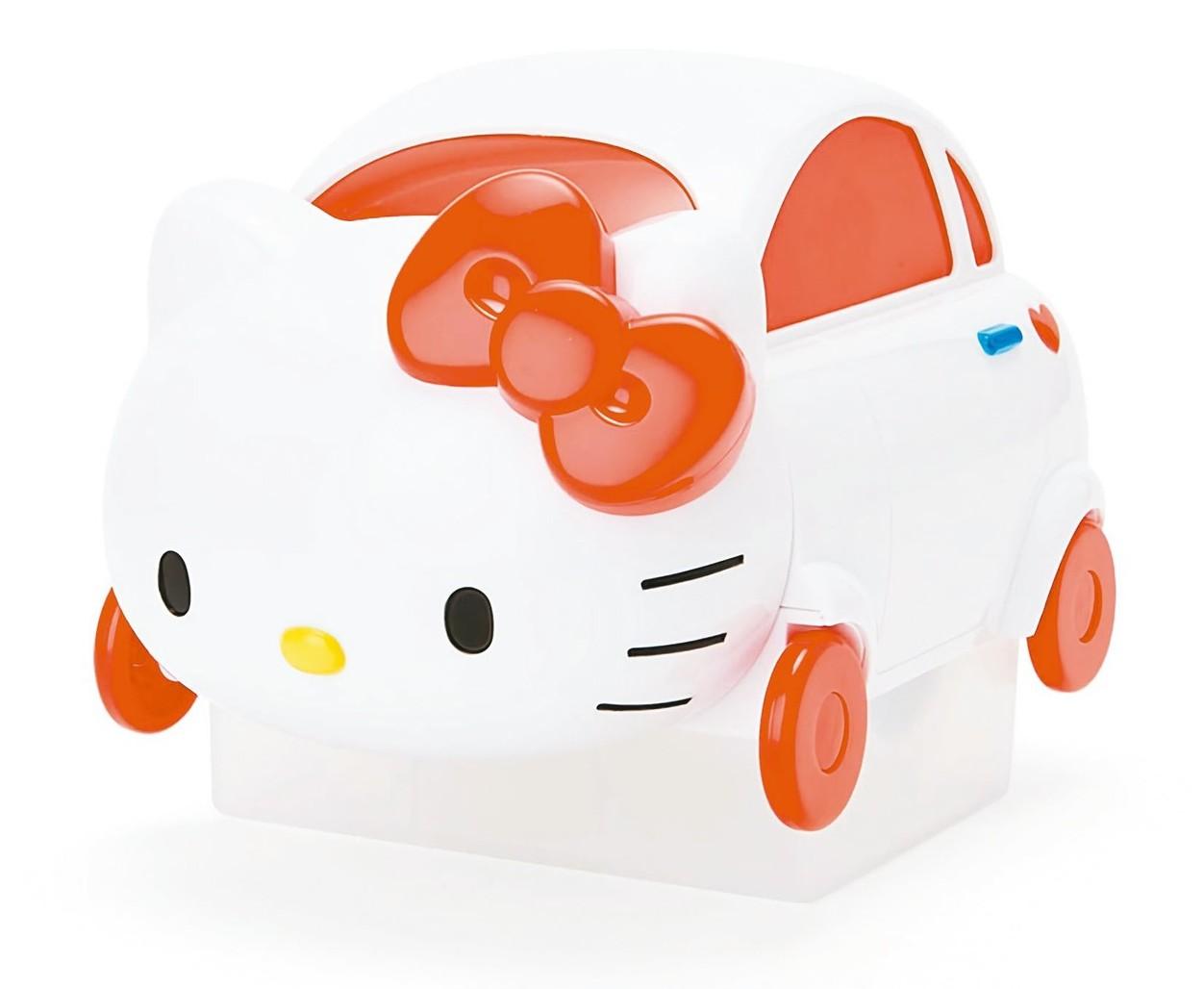 造型討喜的Hello Kitty汽車造型除塵滾輪。 圖/樂天市場提供