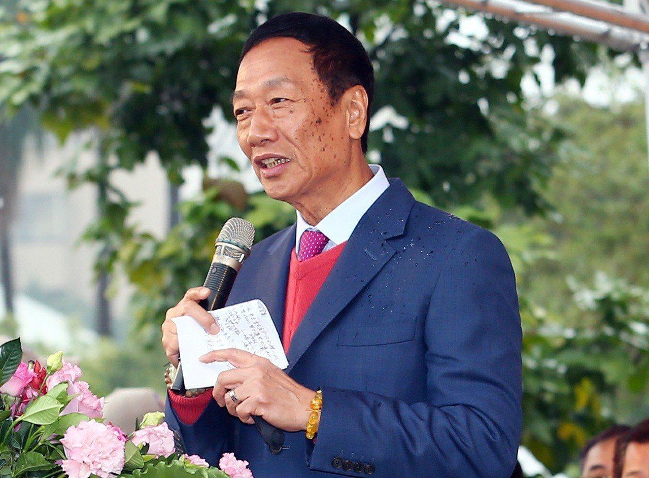 鴻海總裁郭台銘。聯合報系記者杜建重/攝影