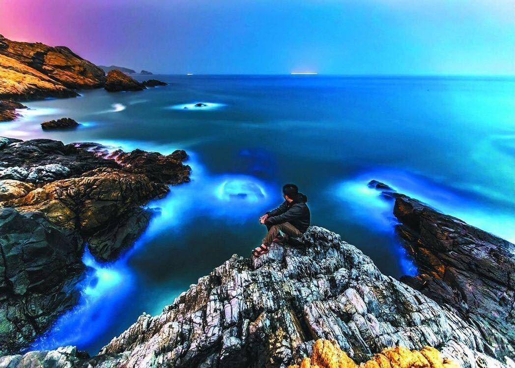 圖/馬祖藍眼淚曾被列為世界15大奇景之一。圖/連江縣政府提供
