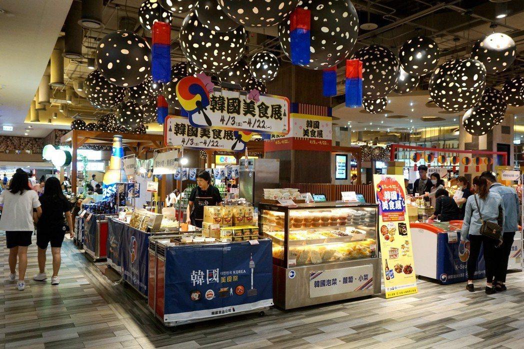 現場集結CJ、SAJO及CASS等韓國知名品牌,推出魚板串、韓式炸雞及醬醃螃蟹等...
