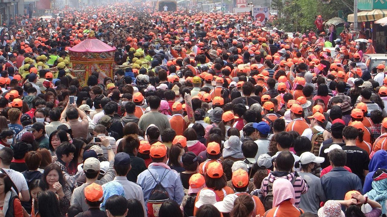 圖為去年白沙屯媽祖進香的盛大場面。本報資料照片