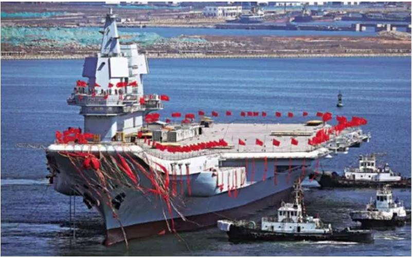 中共海軍002航母已完成五次海試。取自環球網