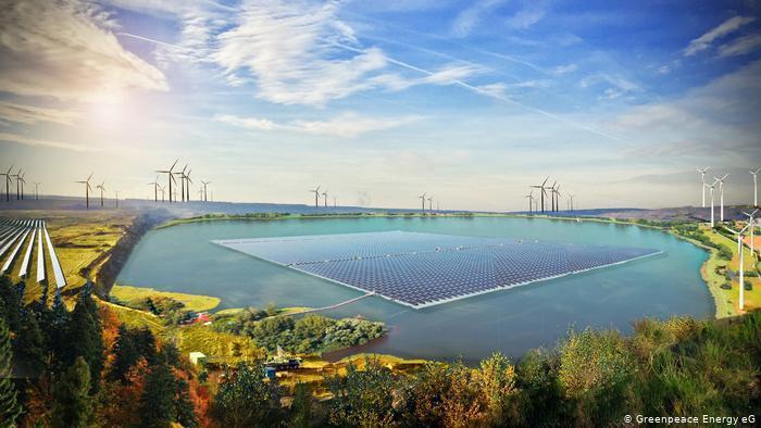 德國電力組織「綠色和平能源合作社」希望購買露天煤礦場,填湖後改造為再生能源發電廠...