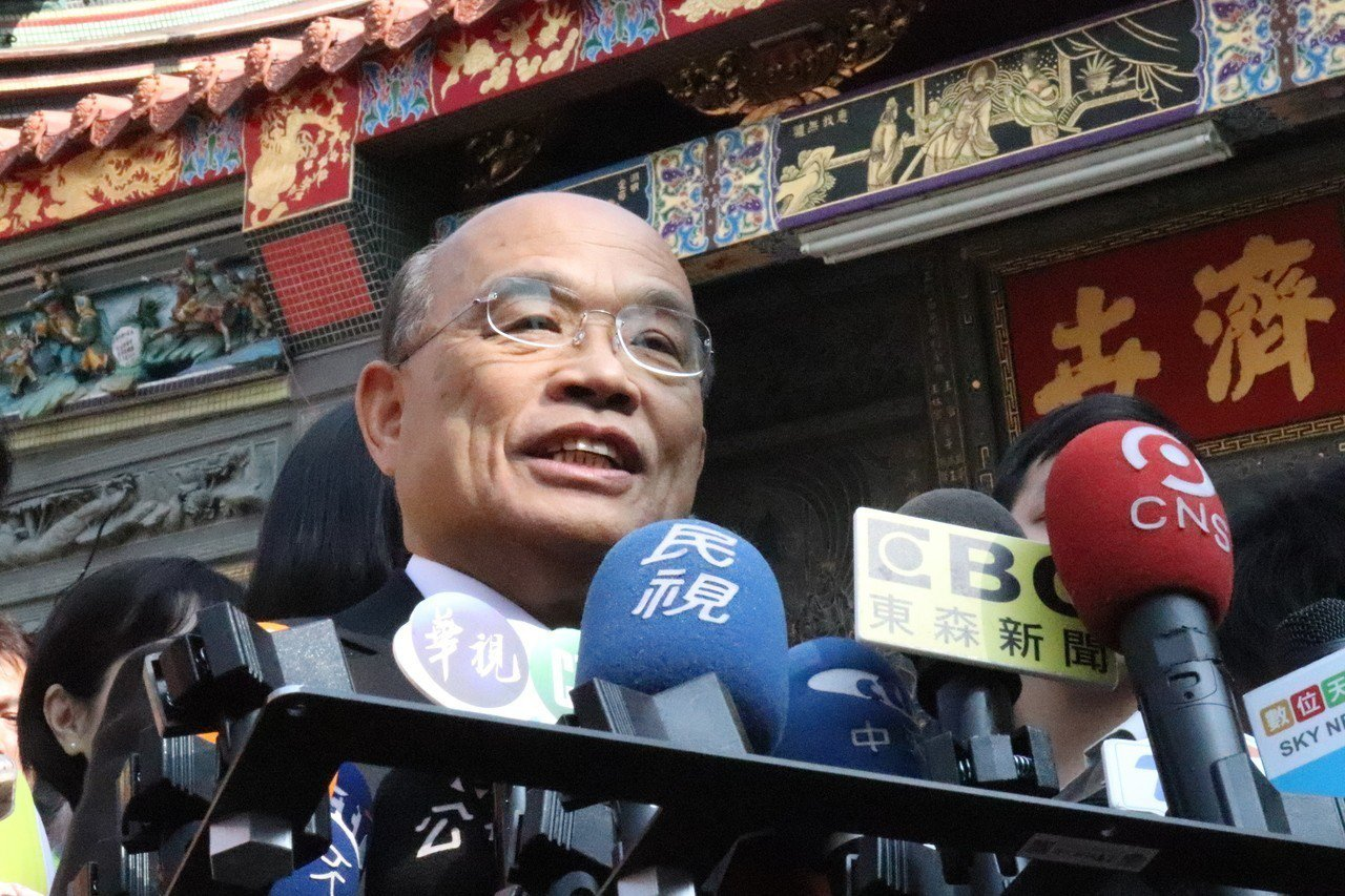 針對民進黨初選,行政院長蘇貞昌表示,希望可以協調出一個好結果。記者胡瑞玲/攝影