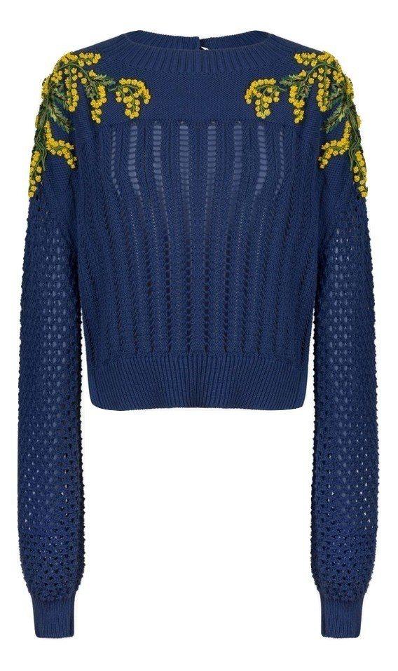Sonia Rykiel立體針織雕花上衣,售價62,700元。圖/MINOSHI...