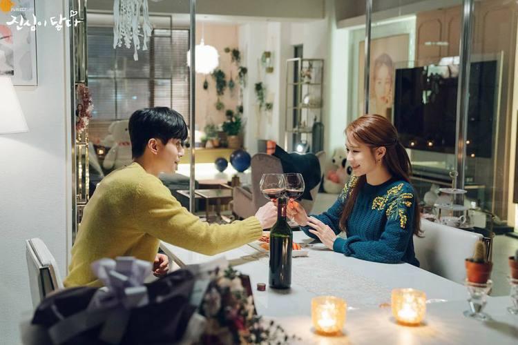 劉寅娜在《觸及真心》劇中穿著Sonia Rykiel立體針織雕花上衣,第1次和男...