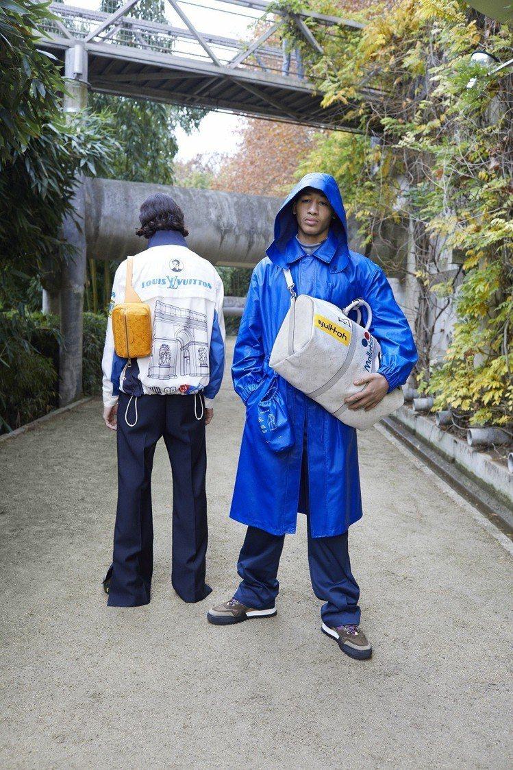 男裝藝術總監Virgil Abloh以濃厚的日本文化打造早秋系列。圖/LV提供