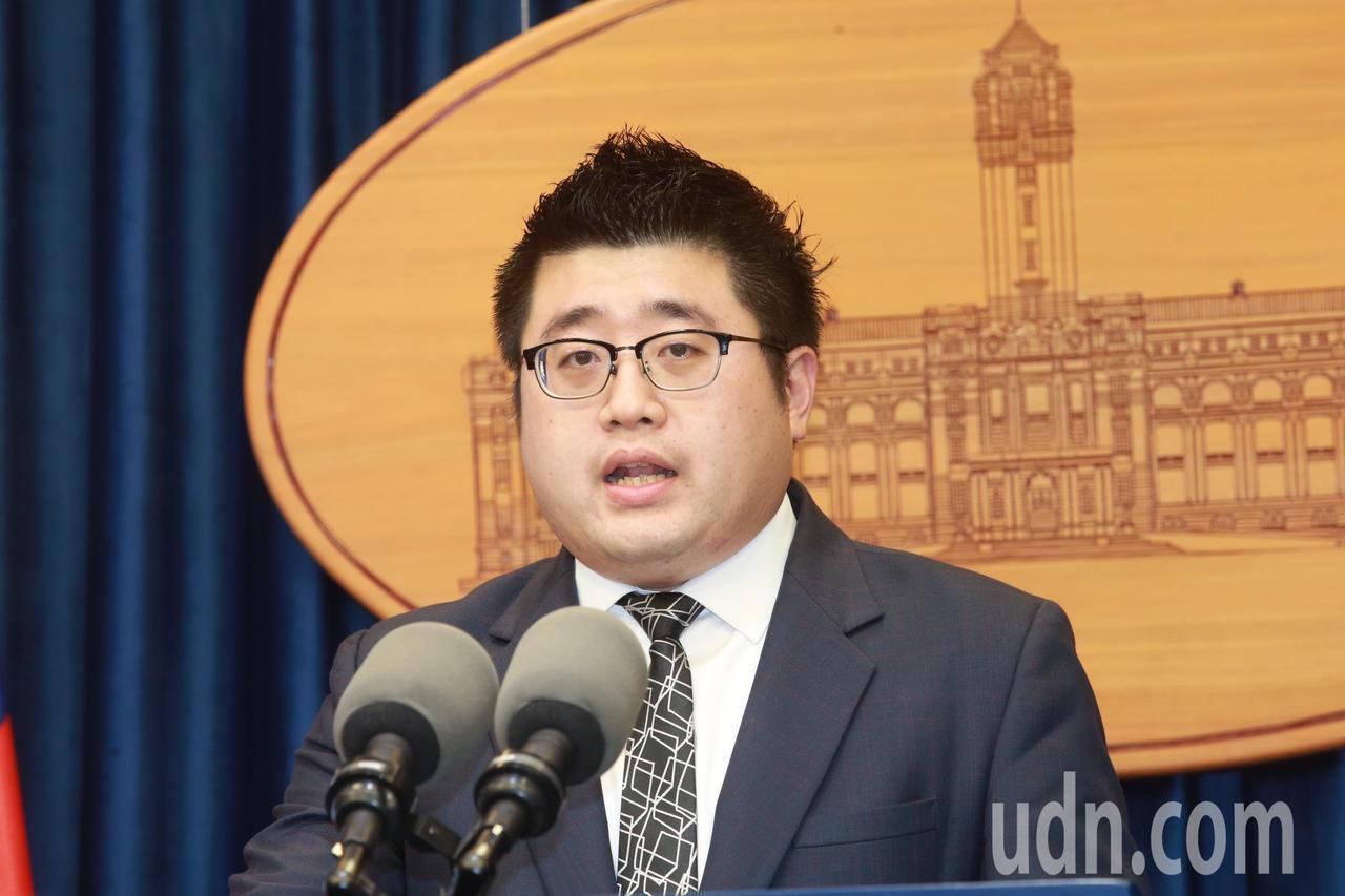 總統府發言人林鶴明。本報資料照片