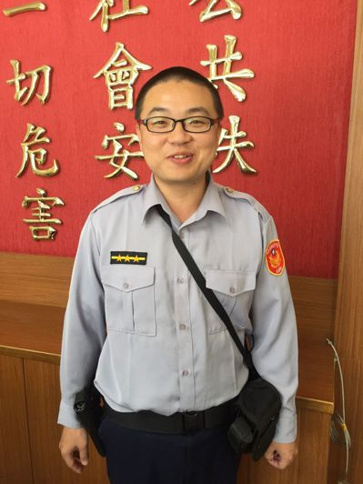 台中市警局烏日分局三和派出所警員姜宏杰。圖/警方提供