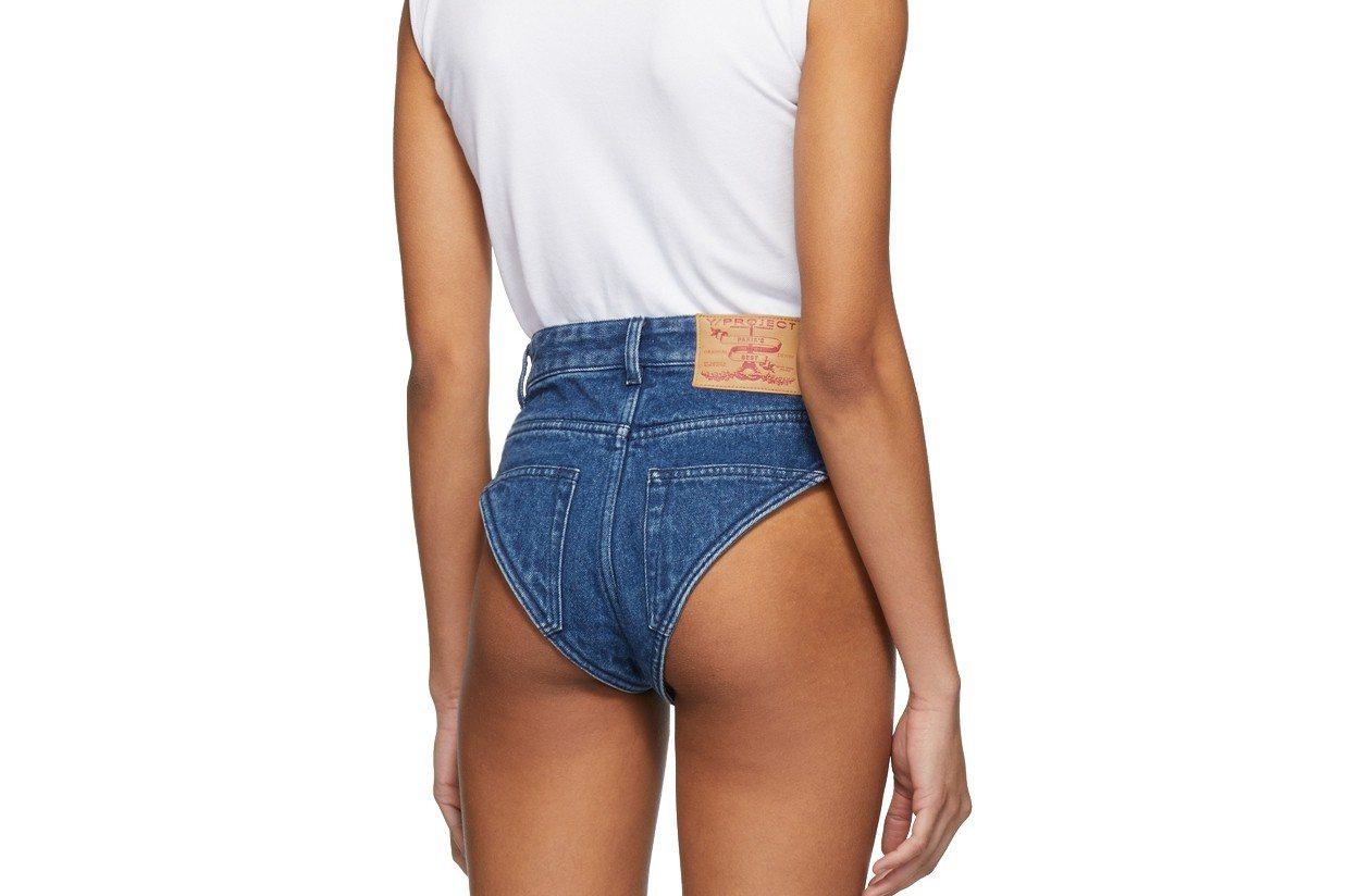 法國時尚品牌Y/Project日前推出一件「史上最短牛仔褲」,不但短到沒褲管、開...